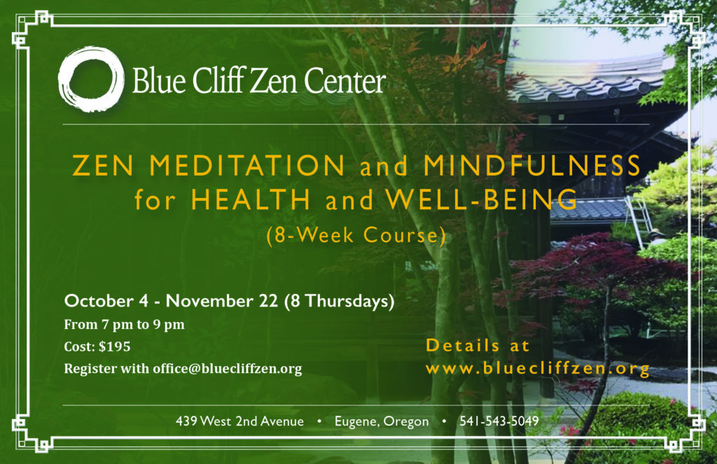 Meditation and mindfulness for health and well-being 8 week course