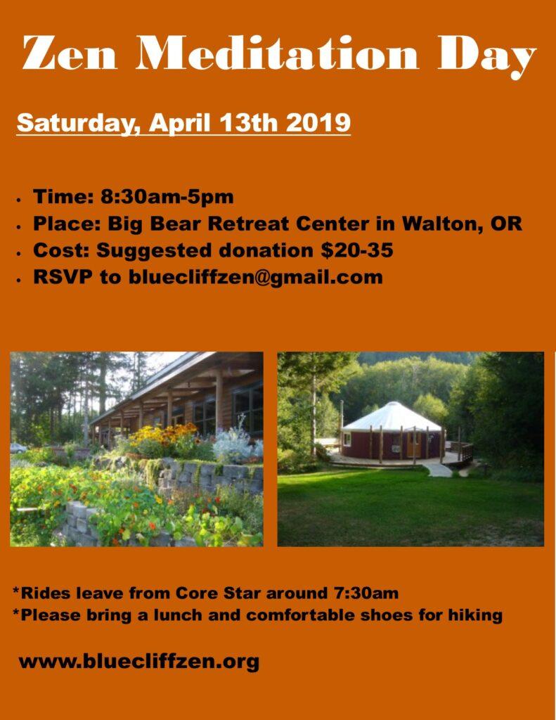 Zen Meditation Day just outside of Eugene, Oregon